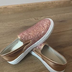 Rose gold spangle shoes 8